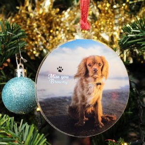 Bauble shape Personalised Xmas Tree decoration photo Bauble custom print