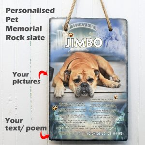 wall hanging slate photo god memorial plaque