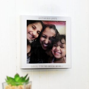 Personalised direct photo printed and engraved photo block