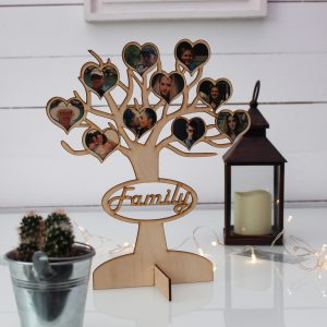 familly tree printed and lazer cut