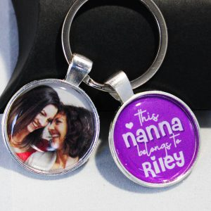 This Nana belongs to message and photo keyring